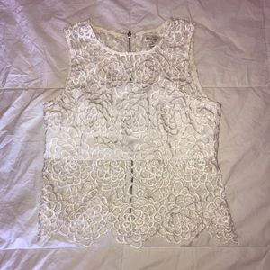 Lace White Top from ANGL